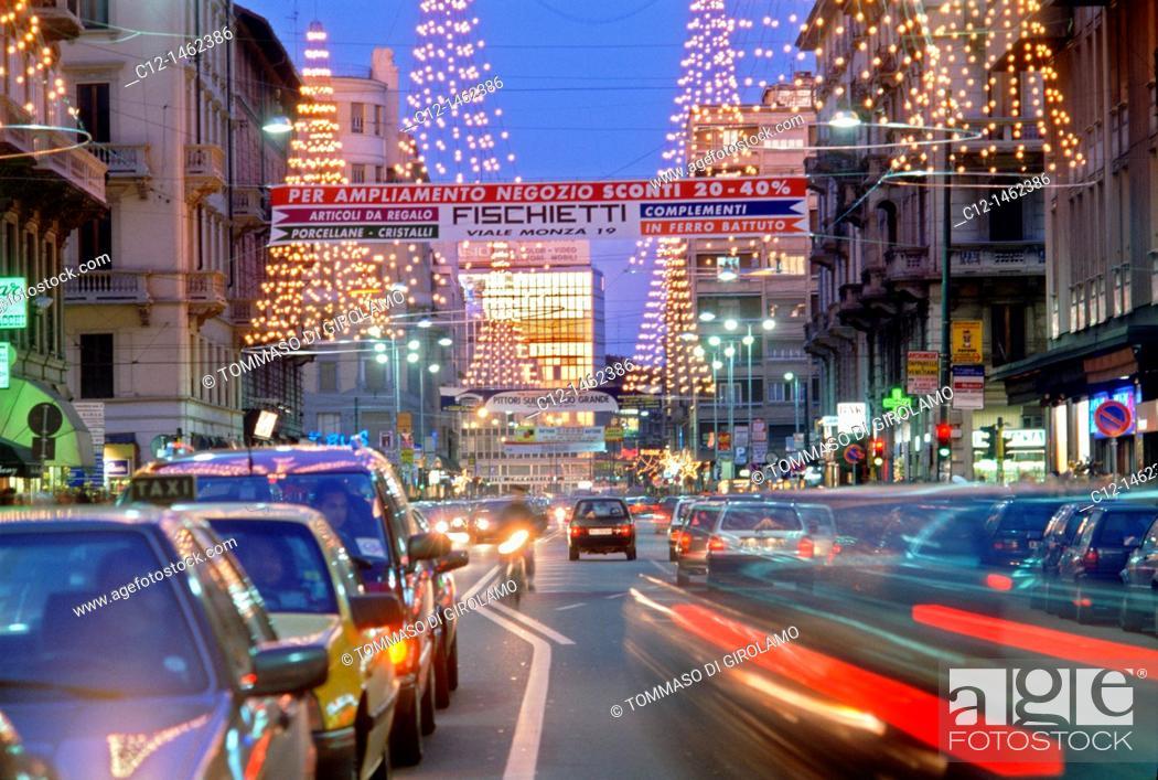 Stock Photo: Milano, Buenos Aires street.