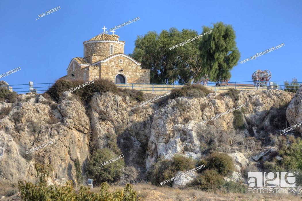 Stock Photo: Church of Profitis Elias, Protaras, Ayia Napa, Cyprus.