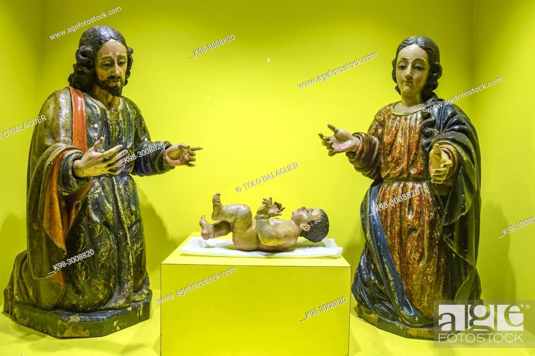 Stock Photo: misterio de nacimiento, talla en madera encarnada, y policromada, siglo XVIII, museo colonial, Casa de Santo Domingo, antiguos templo y convento de Santo.
