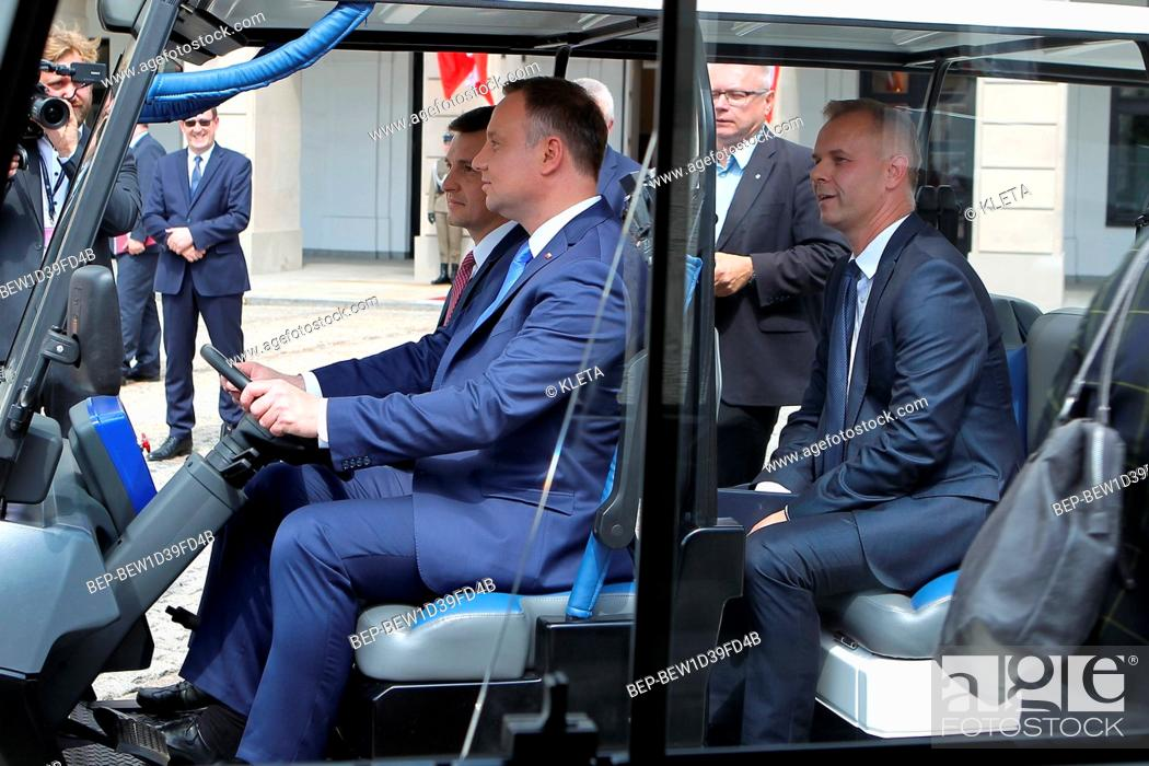 Stock Photo: June 19, 2018 Warsaw, Poland. Pictured: President Andrzej Duda.