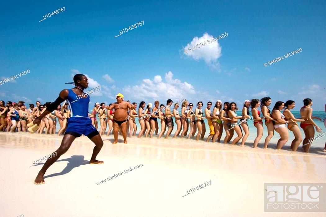 Stock Photo: Bavaro Punta Cana, Aerobic, Dominican Republic.