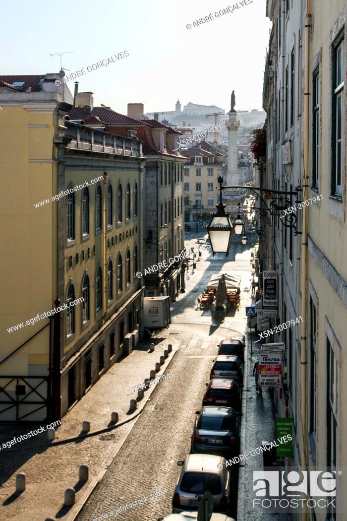Stock Photo: Street of Lisbon, Portugal, Europe.