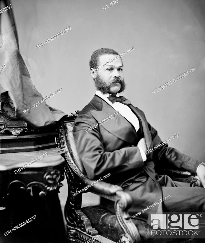 Stock Photo: Jefferson Franklin Long (1836 - 1901), was born a slave who educated himself and became a tailor in Macon, Georgia. He served in the House of Representatives.