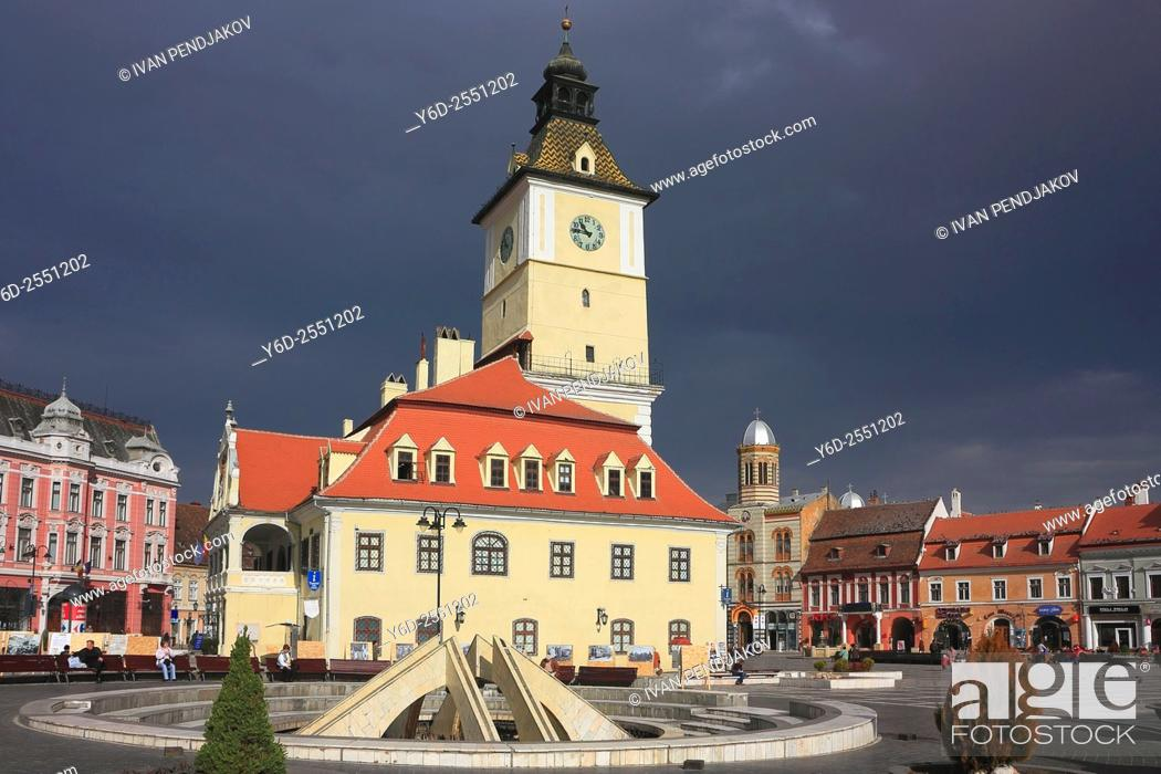 Stock Photo: Council House in Brasov Old Town, Romania.