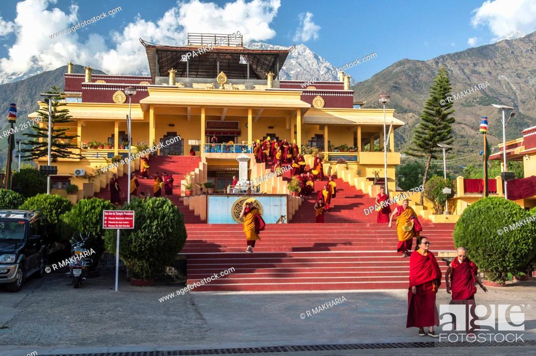 Stock Photo: Gyuto Monastery, Dharamsala, Himachal Pradesh, India, Asia.