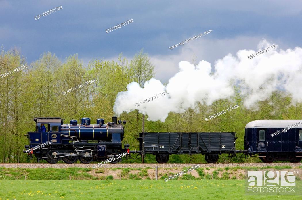 Stock Photo: steam train, Boekelo - Haaksbergen, Netherlands.