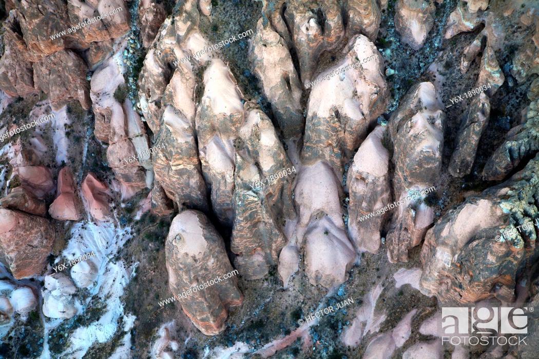 Stock Photo: Cappadocia rocks, the begining of the fairy chimneys.