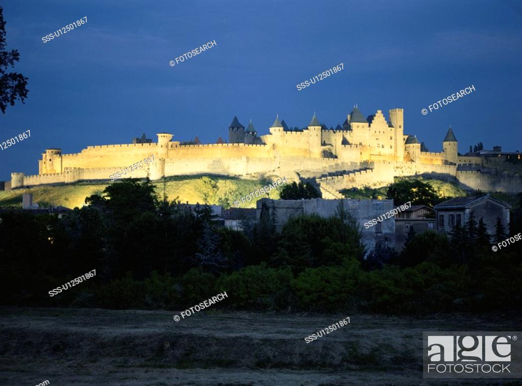 Stock Photo: A Rampart And A Night View.