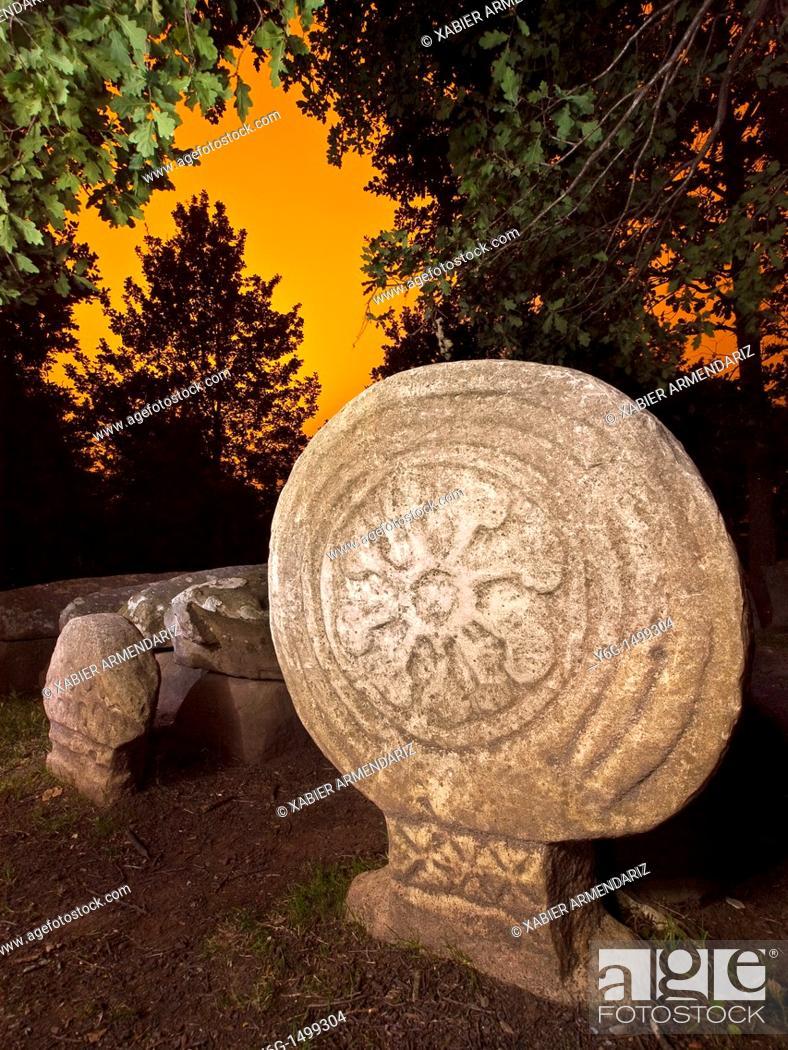 Stock Photo: Necropolis of Argineta  VII-IX A D  Elorrio  Bizkaia  Basque Country, Spain.