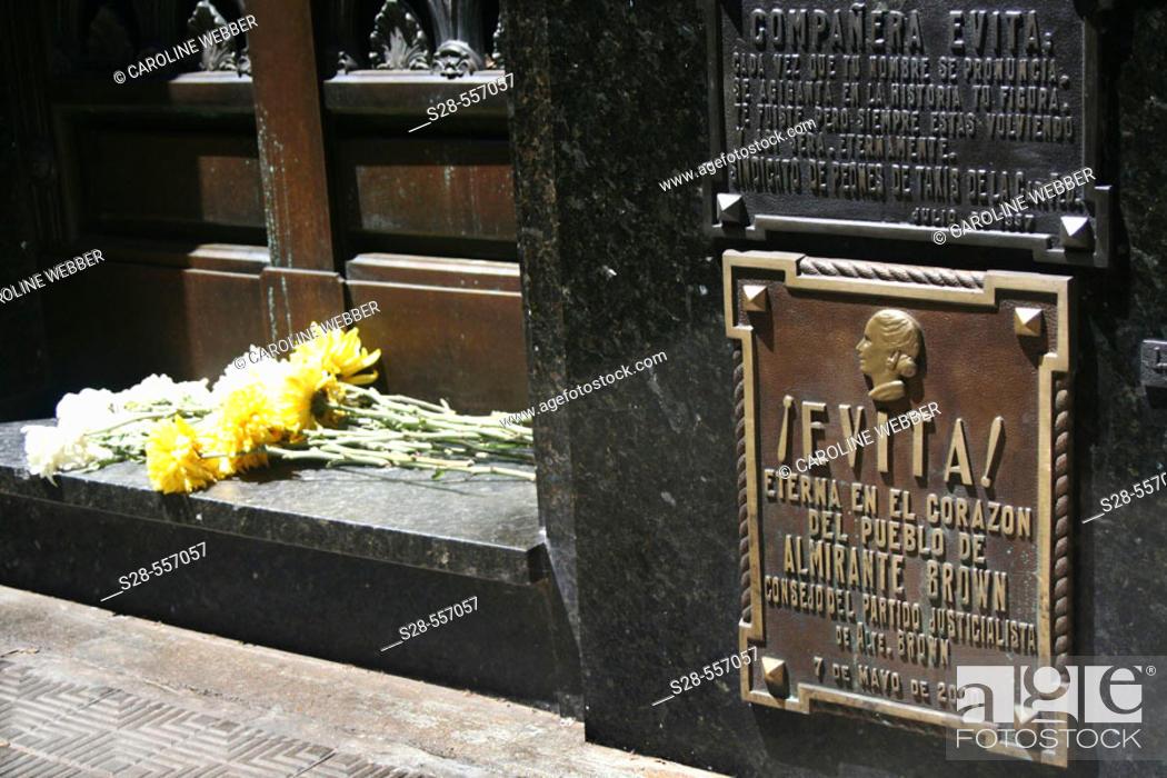 Stock Photo: Eva Peron's gravesite, Recoleta.