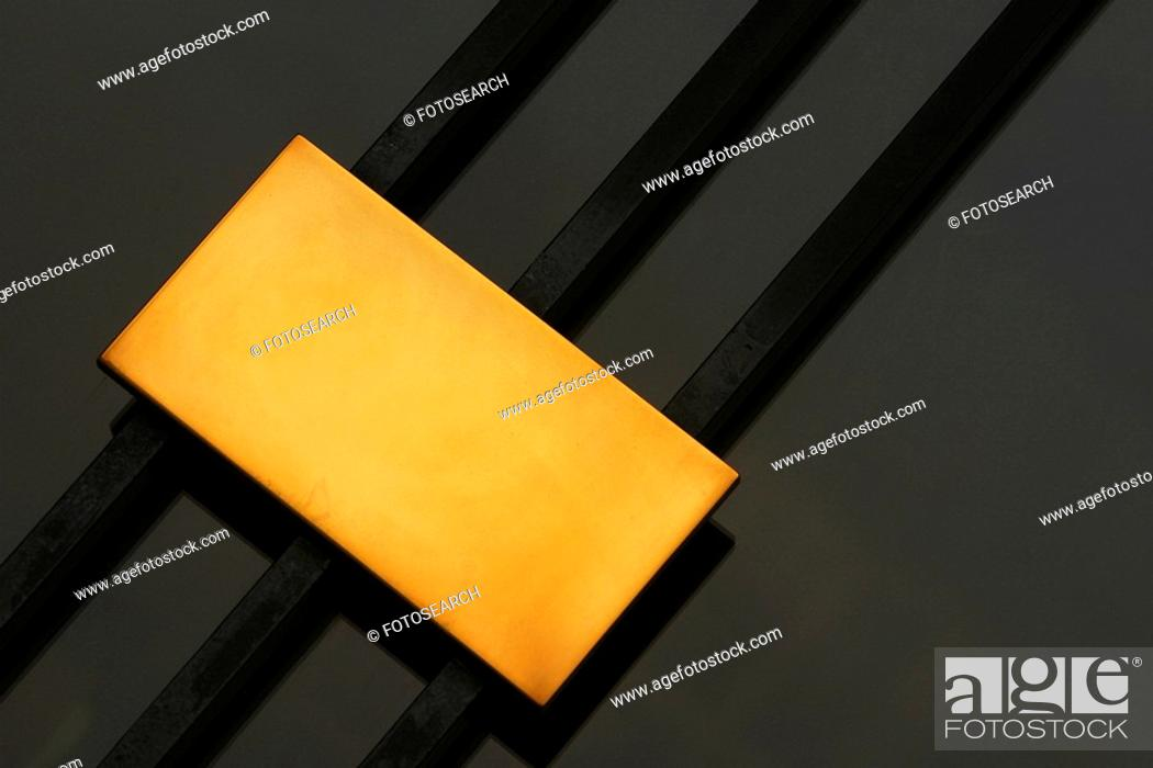Photo de stock: plaque, blank, plate, metallic, bars, poles.