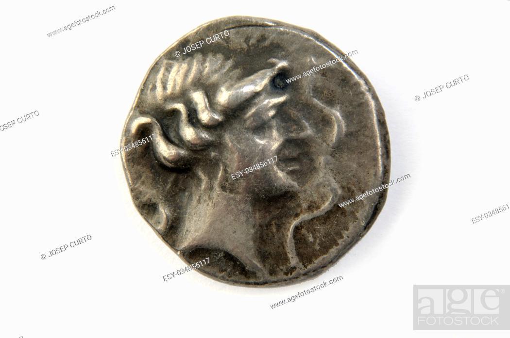 Photo de stock: Roman silver coin.