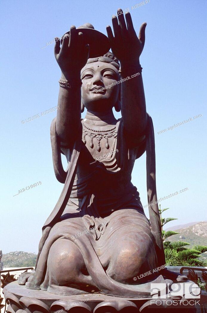 Stock Photo: Hong-Kong - ile de Lantau - temple de Polin.