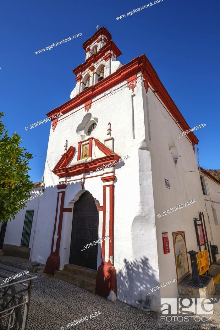 Stock Photo: Santisima Trinidad chapel, Almonaster La Real, Natural Park Sierra de Aracena & Picos de Aroche, Huelva province. Southern Andalusia, Spain. Europe.