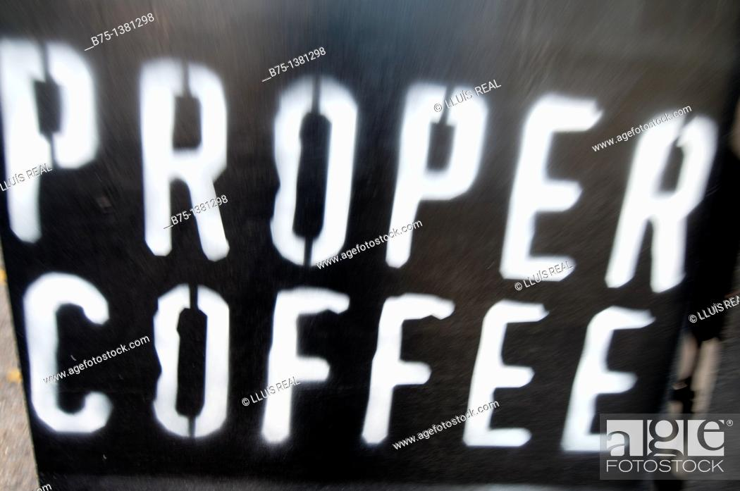 Stock Photo: Coffee sign.