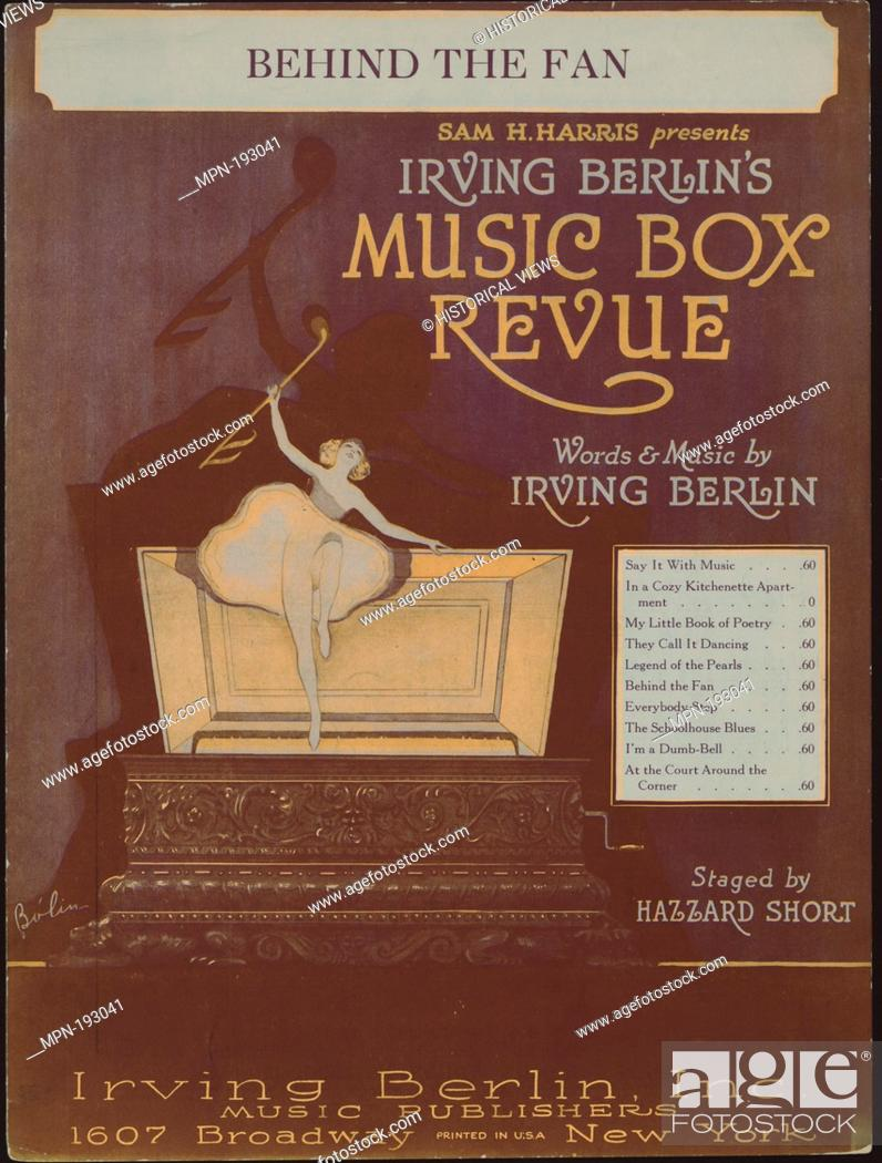 Stock Photo: Behind the fan Additional title: Music box revue. Behind the fan. Vocal score. Ramos Rodríguez, Manuel (1931-) (Illustrator) Grant, Charles N.