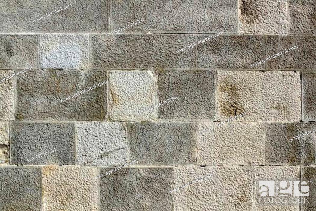 Stock Photo: Wall stone texture background masonry.