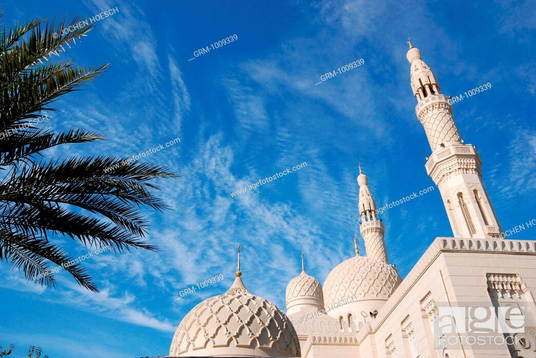 Stock Photo: Jumeirah Mosque, Dubai, UAE.