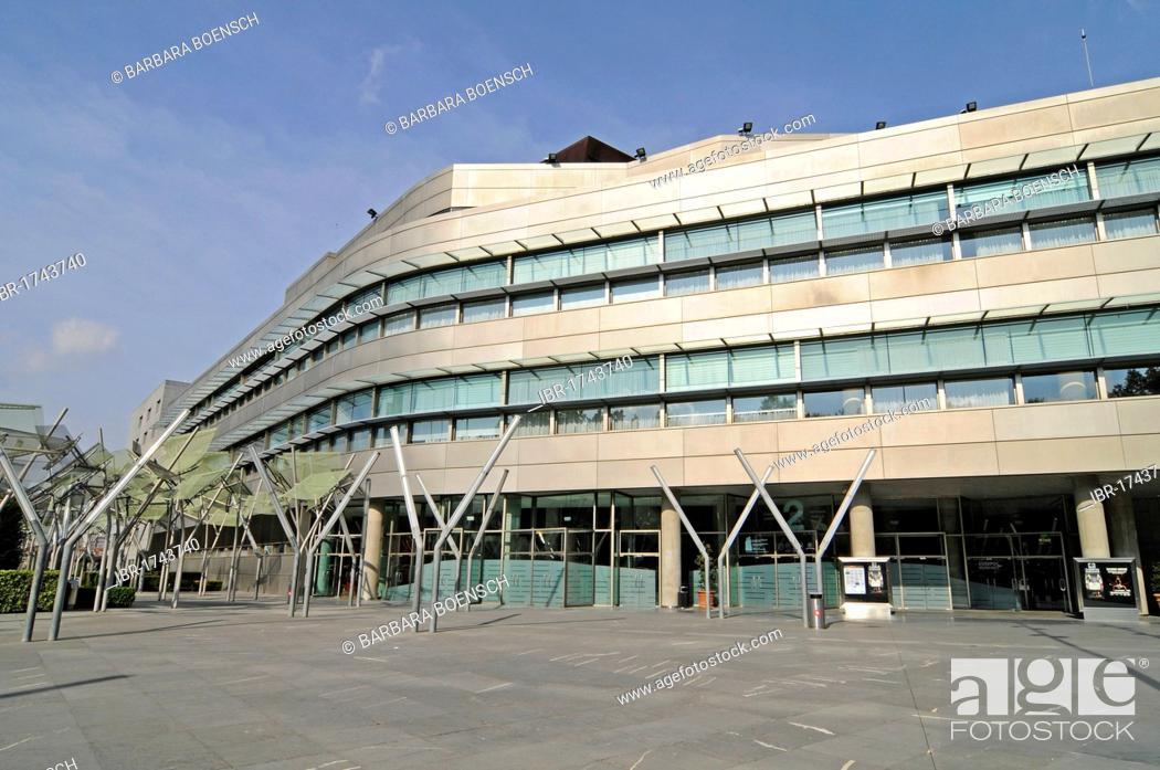 Stock Photo: Palacio de Congresos y de la Musica Euskalduna, Convention Center and Music Hall, Bilbao, Bizkaia province, Pais Vasco, Basque Country, Spain, Europe.