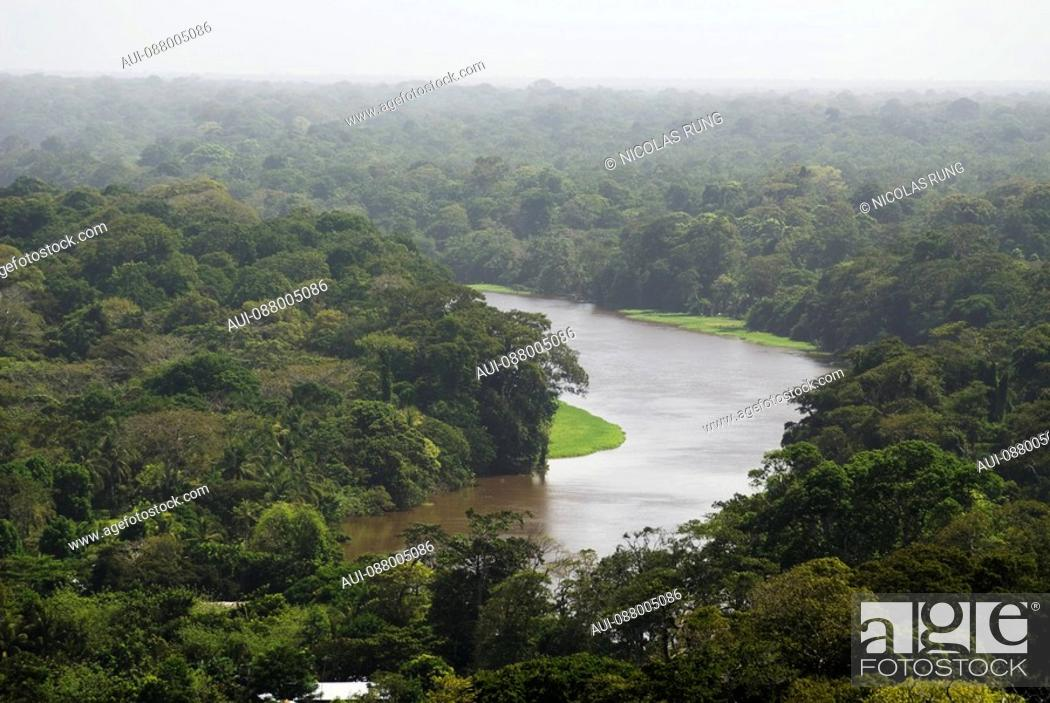 Stock Photo: Canal into rainforest - Tortuguero.