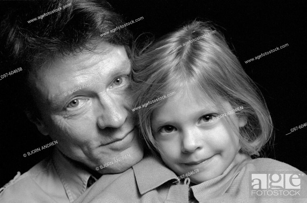Stock Photo: Father and daughter close-up portrait.