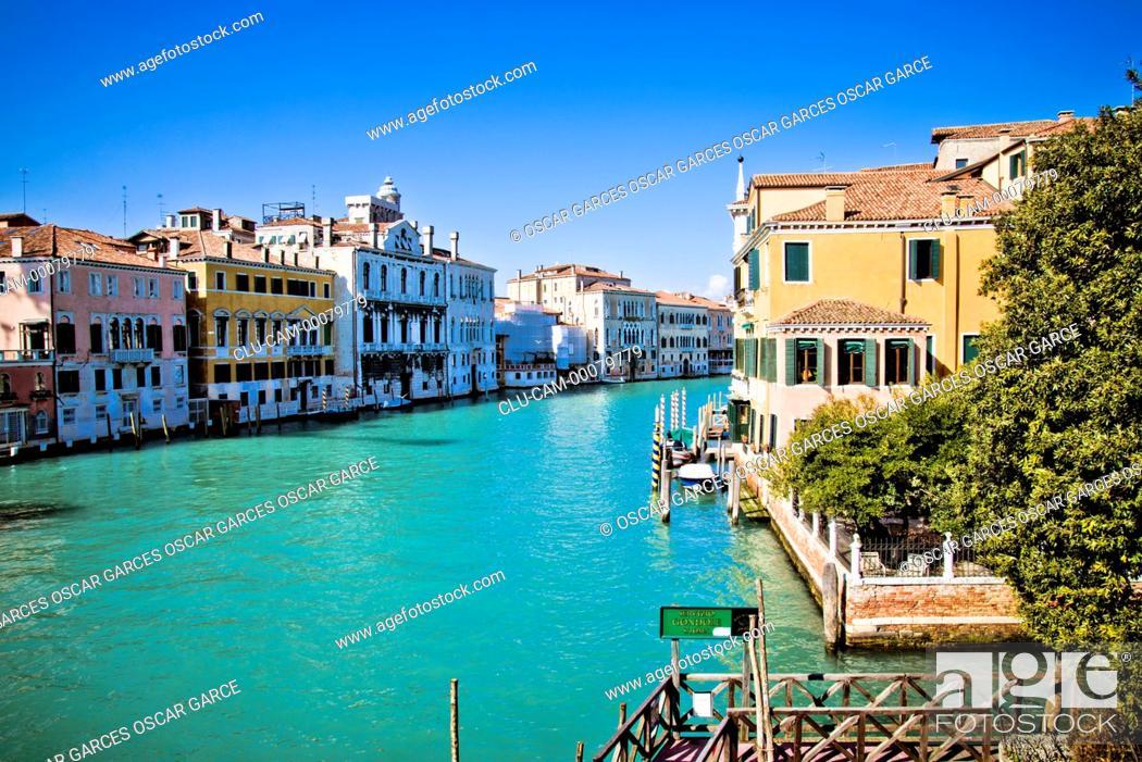 Stock Photo: Grand Canal, Venice, Veneto, Italy, Western Europe.