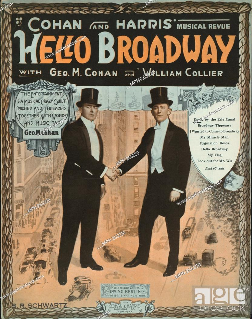 Stock Photo: Down by the Erie Canal Additional title: Hello Broadway. Down by the Erie Canal. Vocal score. Barbelle (1888-1957) (Illustrator) Cohan, George M.