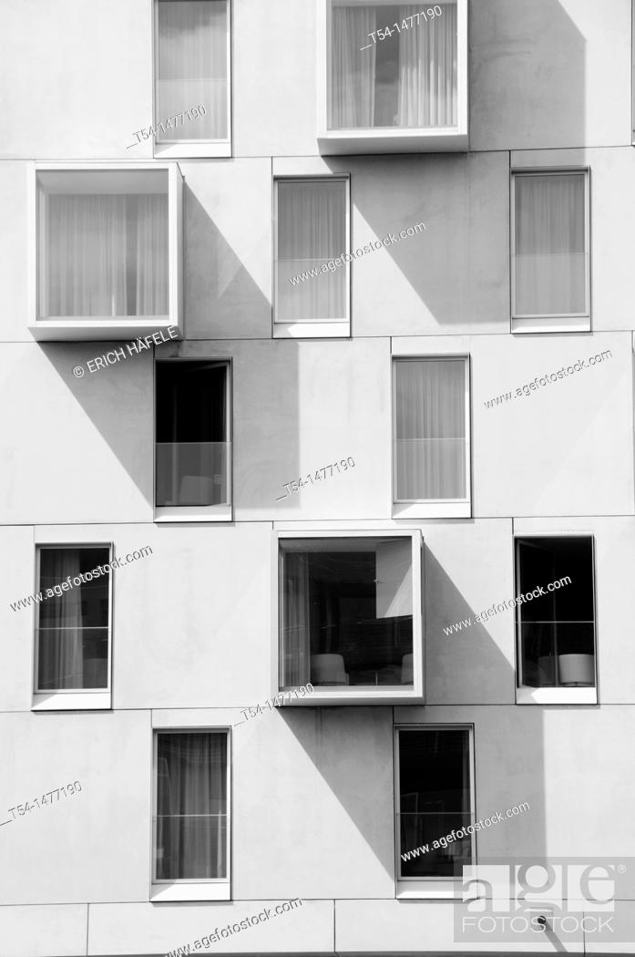 Stock Photo: Windows AT a New Building in Cologne Rheinauhafen.