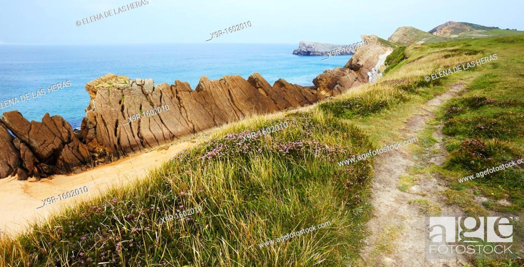 Stock Photo: Liencres coast  Cantabria  Spain.