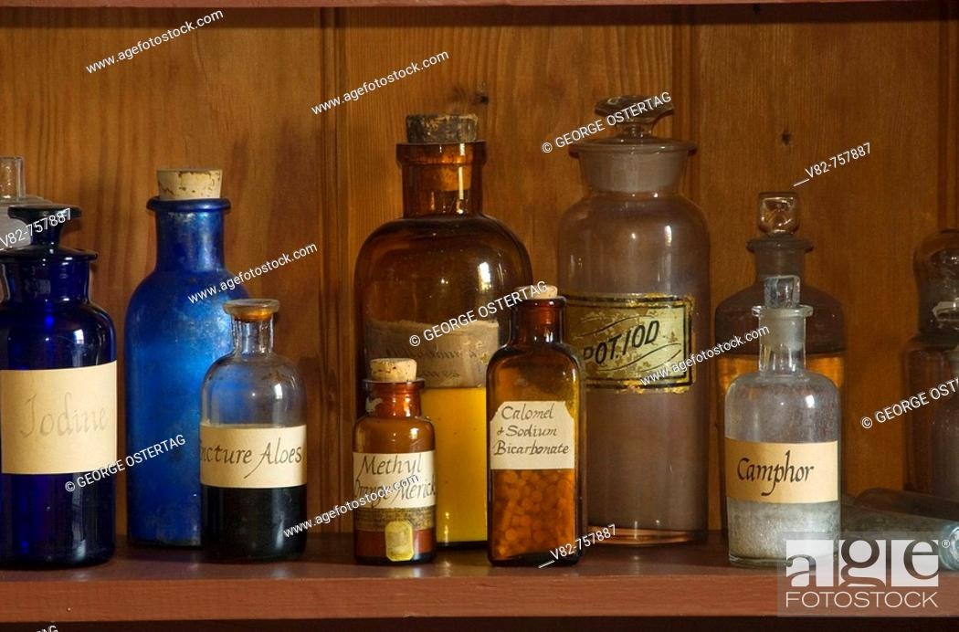 Stock Photo: Dispensary, Fort Vancouver National Historic Site, Vancouver National Historic Reserve, Washington, USA.