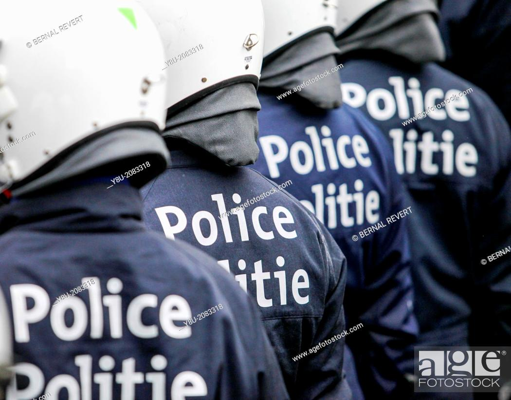 Stock Photo: Belgian police officers.