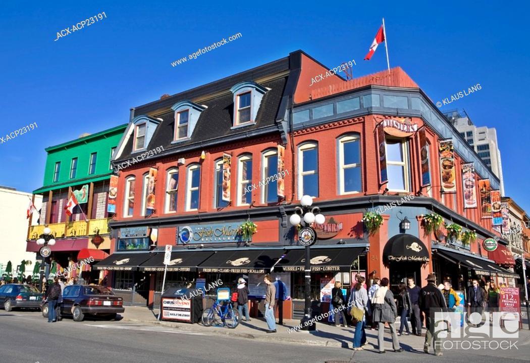 Stock Photo: ByWard Market area, Ottawa, Ontario, Canada.
