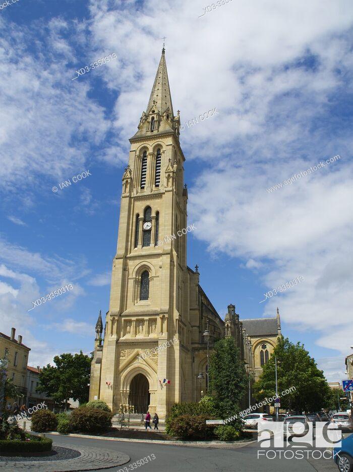 Stock Photo: Notre Dame de Bergerac Church, Bergerac, Dordogne Department, Nouvelle Aquitaine, France.