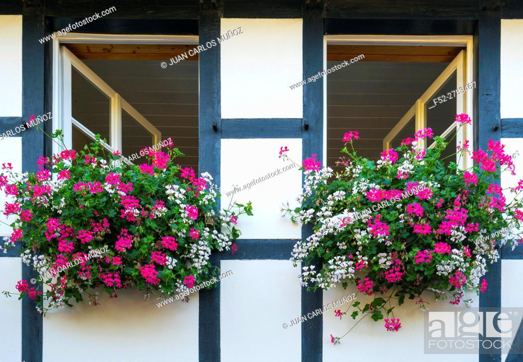 Stock Photo: Nideggen Village, North Eifel Territory, Eifel Region, Germany, Europe.