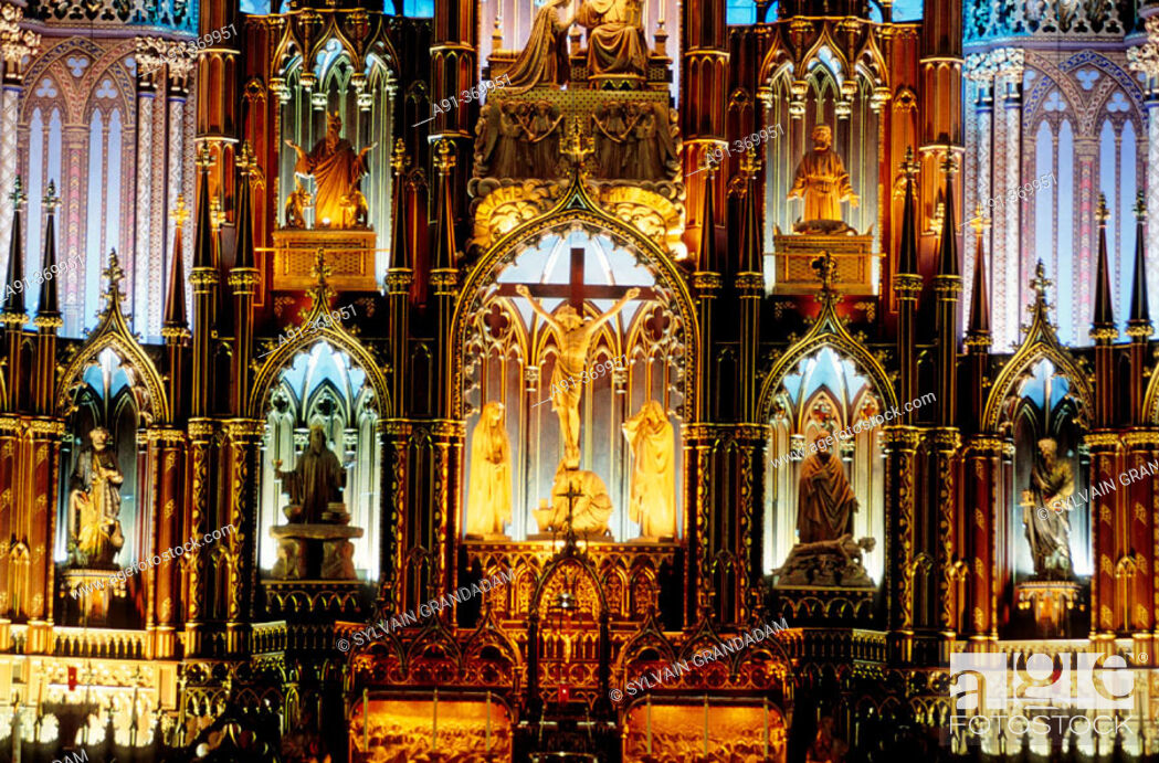 Stock Photo: The catholic cathedral. City of Montreal. Quebec. Canada.