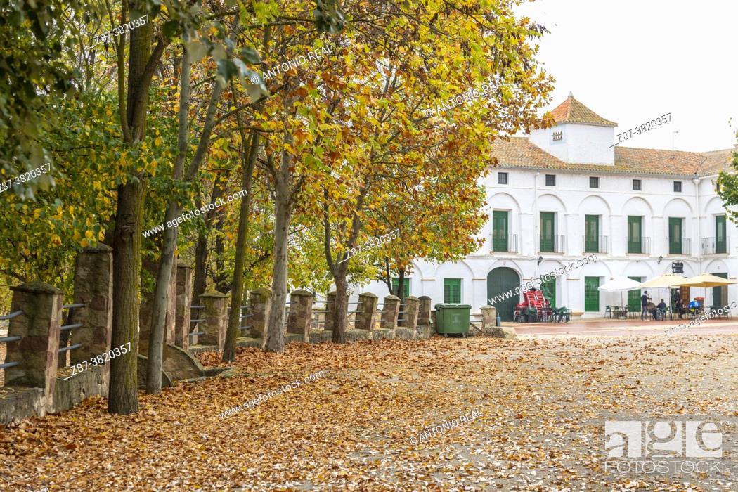Stock Photo: Autumn in the Sanctuary of Bethlehem. Almansa. Albacete.