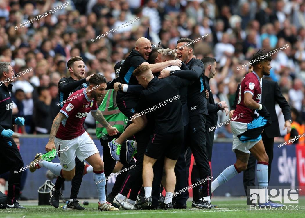 Imagen: 2019 EFL Championship Playoff final Aston Villa v Derby County May 27th. 27th May 2019, Wembley Stadium, London, England; Championship Playoff final.