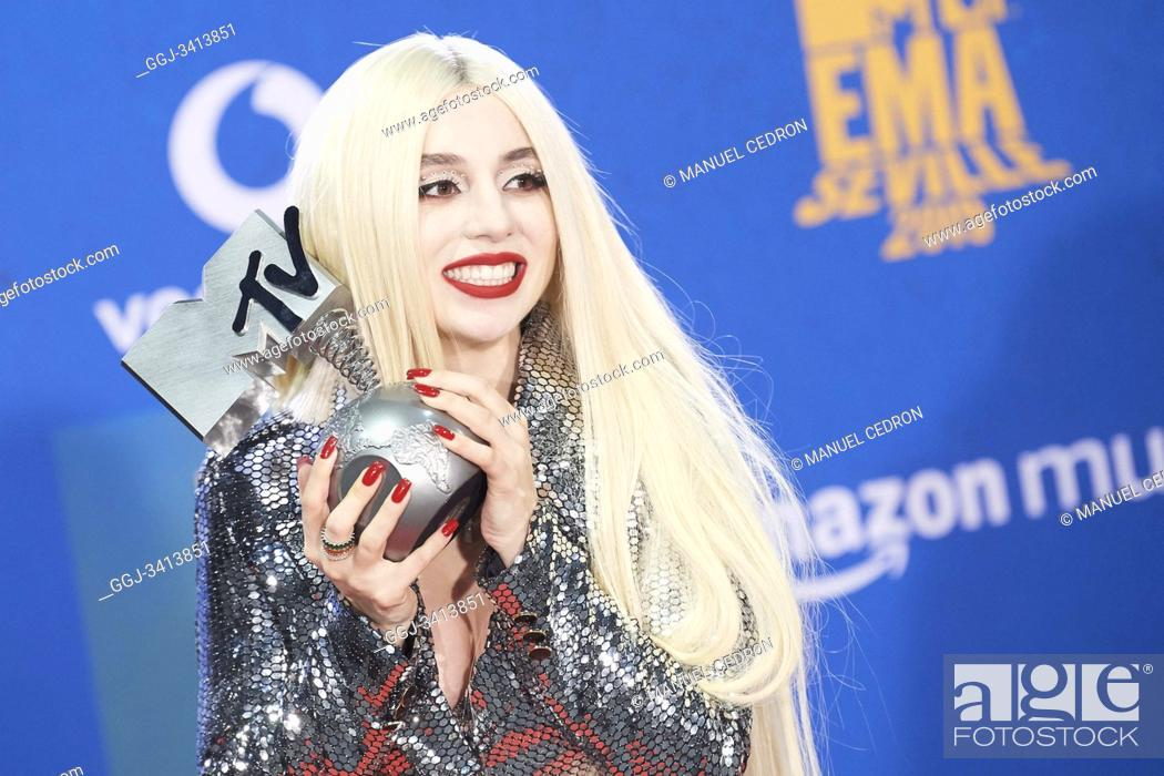 Stock Photo: Ava Max attends 2019 MTV Europe Music Awards (EMAs) - Winners Room at FIBES Conference and Exhibition Centre on November 3, 2019 in Sevilla, Spain.