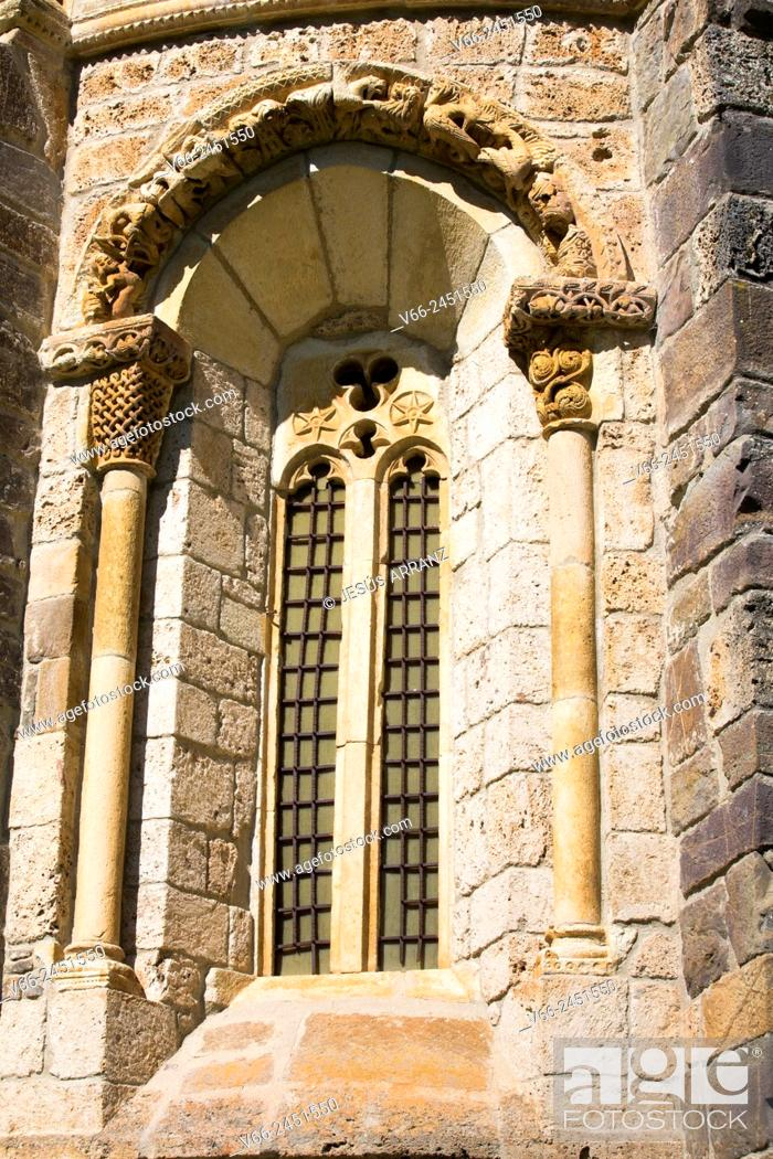 Stock Photo: Iglesia de Santa María (11th century), Piasca, Valle de Liébana, Cantabria, Spain.