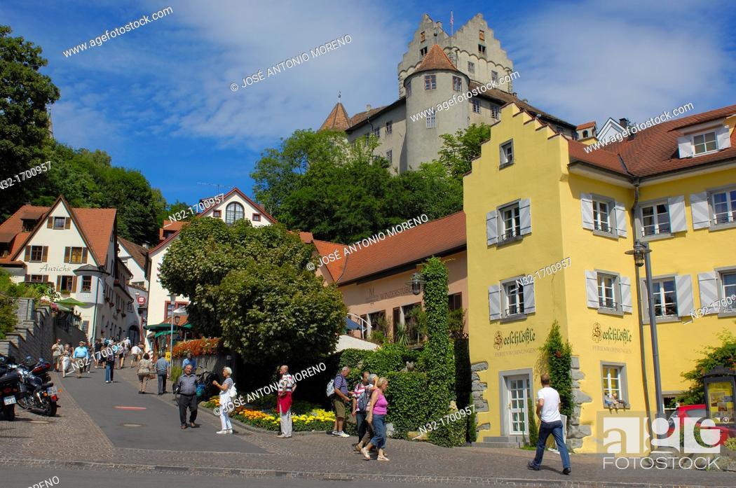 Imagen: Castle, Meersburg, Lake Constance (Bodensee), Baden-Wuerttemberg, Germany, Europe.