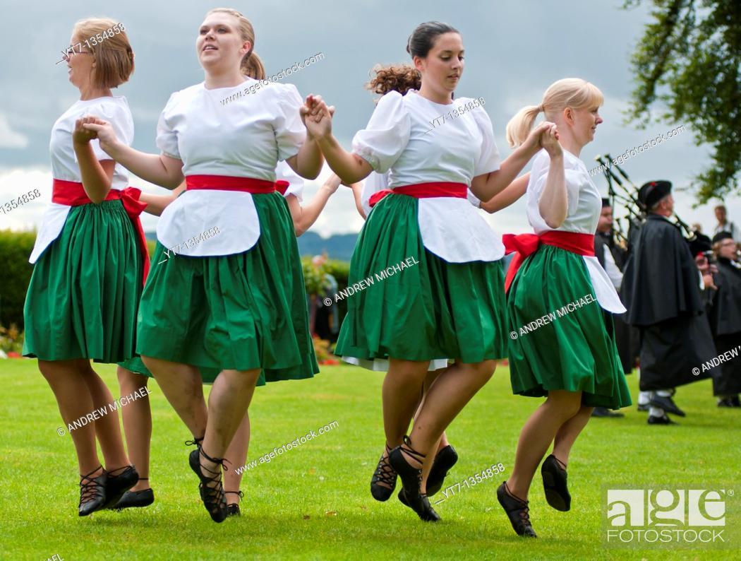 Stock Photo: Scottish dancers at Stirling castle  Scotland.