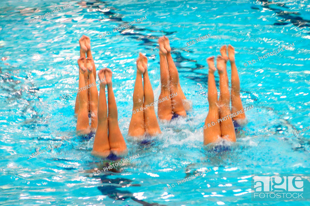 Stock Photo: Synchronized swimming.