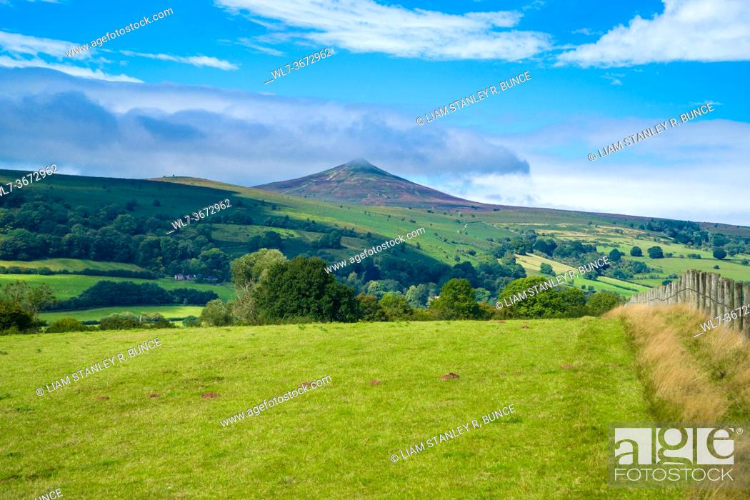 Stock Photo: The Sugar Loaf forming part of the Black Mountains within the Brecon Beacons National Park, Monmouthshire UK. September 2020.