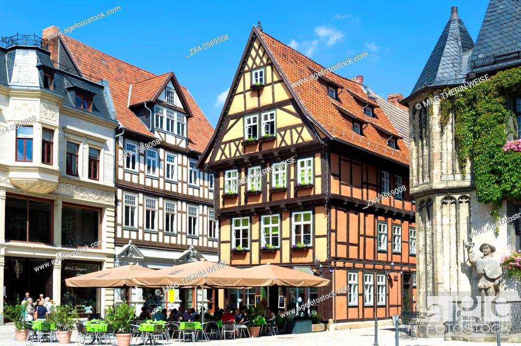 Imagen: Half-timbered houses, Quedlinburg, Harz, Saxony-Anhalt, Germany, Unesco World Heritage Site.