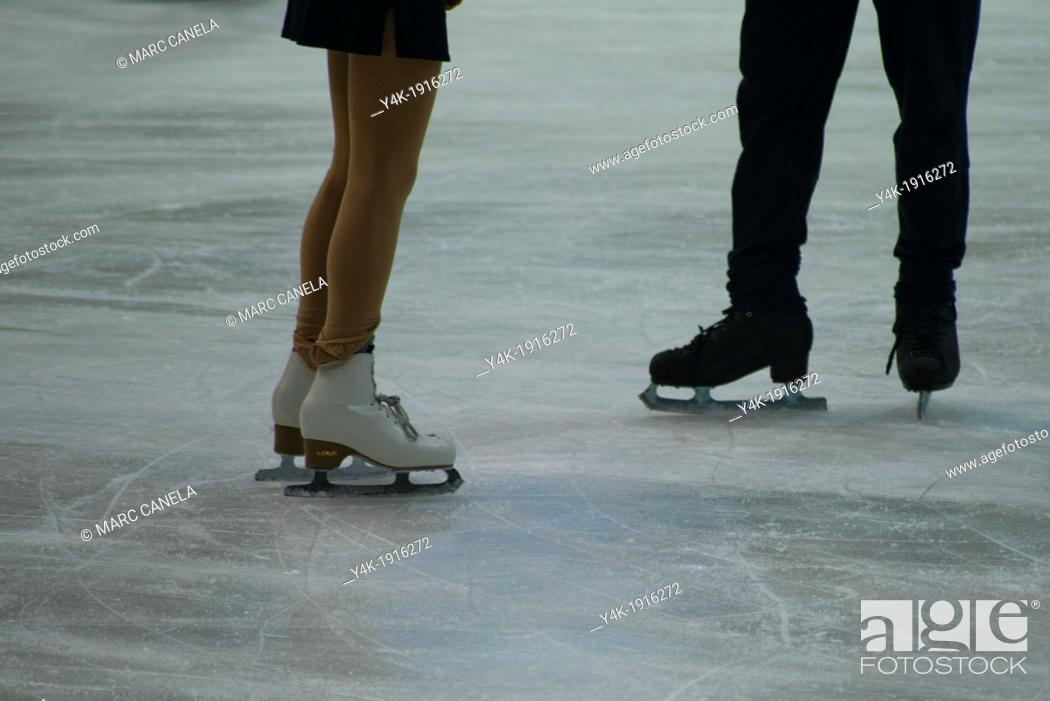Stock Photo: Skate on ice.