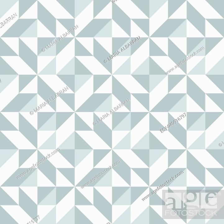 Stock Vector: Abstract seamless pattern with grey triangle. Vector illustration.