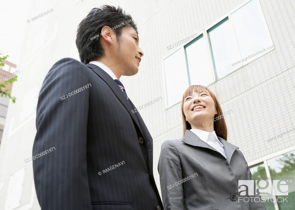 Imagen: Businessman and businesswoman.