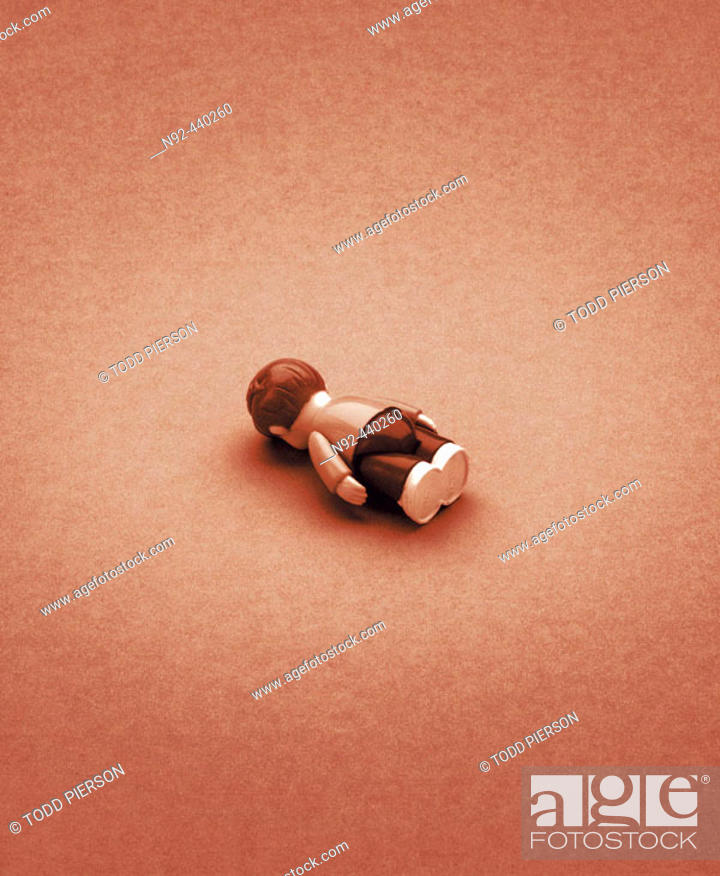 Stock Photo: Toy face down.