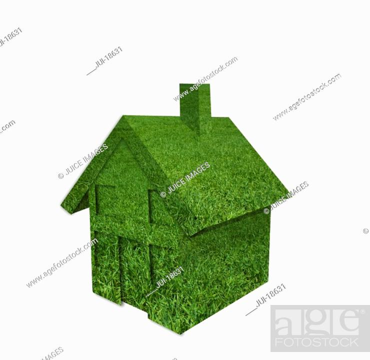 Stock Photo: House made of grass.