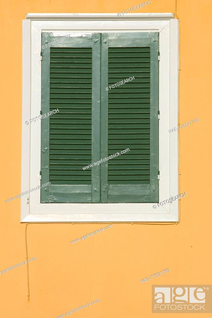 Stock Photo: Building Exterior, Building Structure, Closed, Close-Up, Day.
